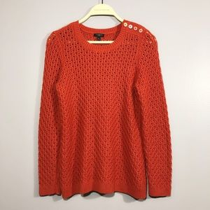 Talbots Petite Small Wool Mesh See Through Sweater